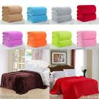 US Sofa Bedding Super Soft Warm Solid Warm Micro Plush Fleec