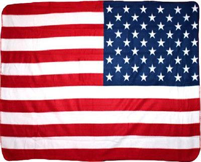 USA American Patriotic 50 Star Flag 50x60 Polar Fleece Blank