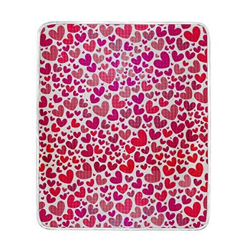 valentines day heart plush throws