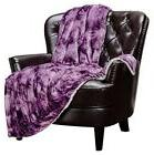 Velvet Fleece Reversible Throw Blanket - Couch Blanket Soft