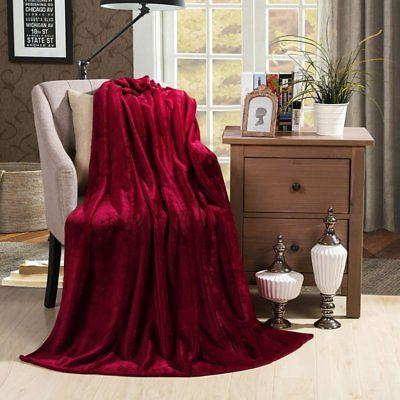 velvet plush throw blanket solid