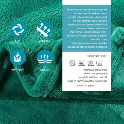 HYSEAS Velvet Weight Luxurious Throw, Teal