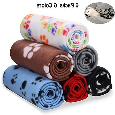 Comsmart Warm Paw Print Blanket/Bed Cover for Dogs and Cats,