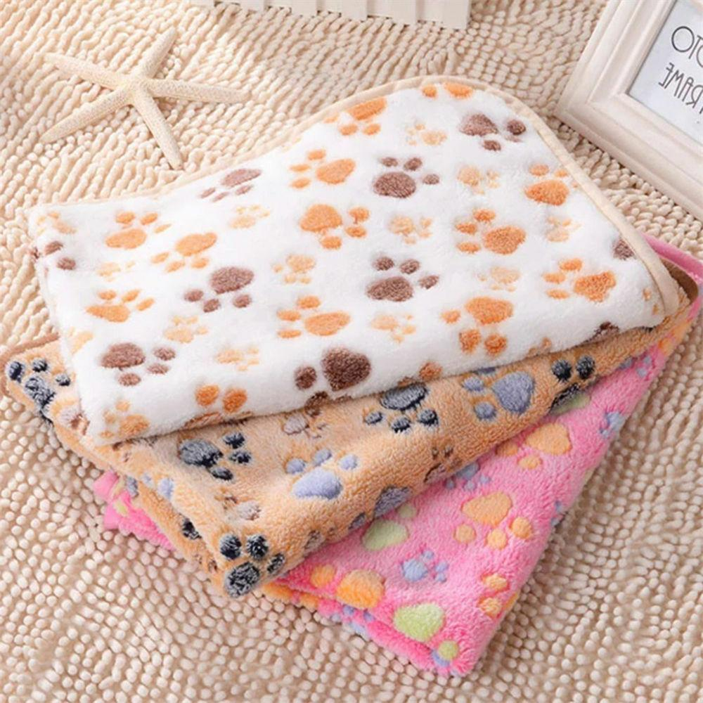 Pet Blanket Cat Dog Puppy Soft Warm Fleece Bed Mat Cushion S