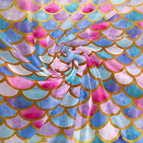 ALAZA Mermaid Scale Camping Lightweight 50x60inches