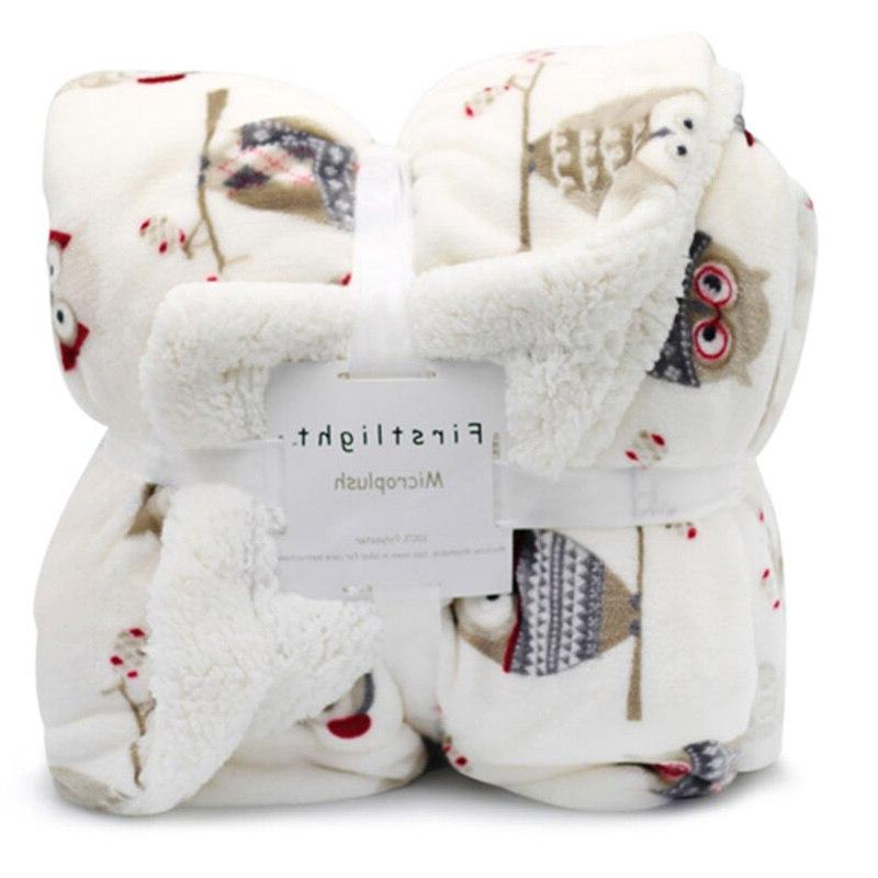 Weighted <font><b>Fleece</b></font> Winter Adult Sherpa Throw <font><b>Blanket</b></font> Sofa Bed Couch Mantas De