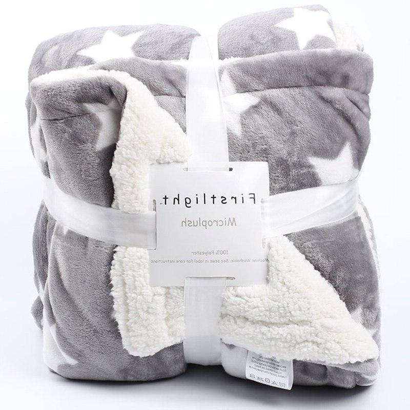 Weighted <font><b>Flannel</b></font> <font><b>Blanket</b></font> Winter Soft Thick Sherpa for Sofa Couch Mantas