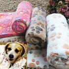 Wholesale Pet Dog Cat Soft Fleece Blanket Warm Paw Print Bed