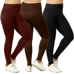 Sofra Ladies High Waist Extra-Wide Band Leggings Plus Size N