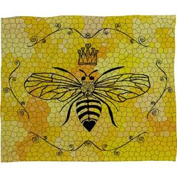 Deny Designs Lisa Argyropoulos Queen Bee Fleece Throw Blanke