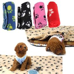 Lovely Design Paw Print Soft Warm Fleece Pet Blanket Dog Cat