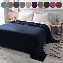 LUXURY Flannel Fleece Blanket Lightweight Microfiber All Siz
