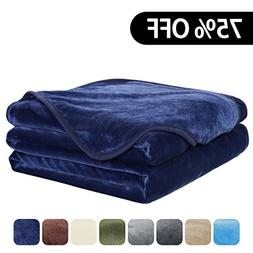 EASELAND Luxury Super Soft Travel Size Blanket Summer Coolin