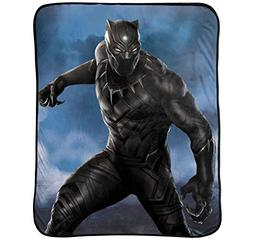 Marvel Black Panther Hunter Plush Throw