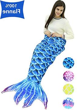 Mermaid Tail Blanket for Adults Women Large Size Fleece Outd