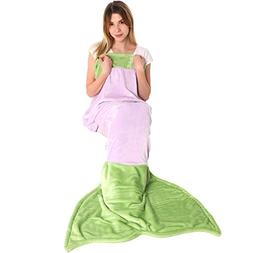 Cuddly Blankets Mermaid Tail Blanket for Adult Women - Super
