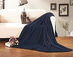 Elegant Comfort Micro Fleece Ultra Plush Luxury Solid Blanke