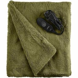 Sunbeam Microplush Throw Electric Heated Warming Heating Bla