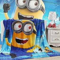 Minions Coral Fleece Blanket 59 X 79 Machine Washable Childr