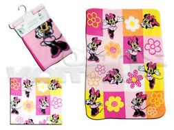 Disney Minnie Mouse Fleece Printed Baby Blanket, Pink