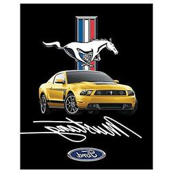 "Ford Mustang Heavy Fleece Sherpa Blanket 48"" X 60"""
