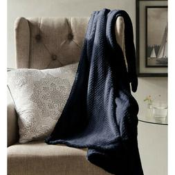 Duck River Textiles Myrcella Textured Throw in Midnight Blue