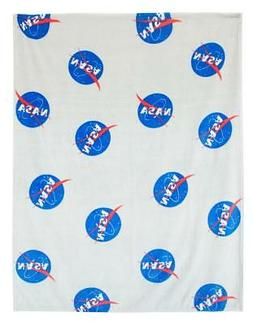 NASA Logo Fleece Blanket, Large, Plush Throw