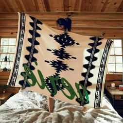 New Aerie Blue Green Aztec Limited Edition Cozy Blanket Blac