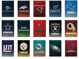 NEW NFL Officially Licensed Faded Glory Fleece Throw Blanket