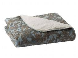NEW Sonoma Paisley or Amy Miller Sherpa Plush Throw Fleece B