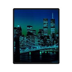 WECE New York City Empire State Style Fleece Throws Blankets
