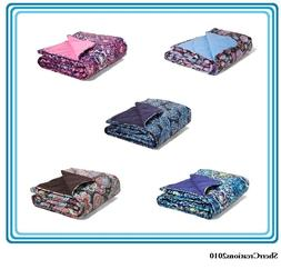NWT Vera Bradley Quilted Fleece Blanket Floral Paisley #1737