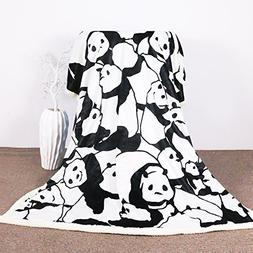 Sleepwish Panda Plush Blanket Cartoon Animal Throw Blanket C