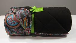Vera Bradley PARISIAN PAISLEY QUILTED FLEECE BLANKET STADIUM