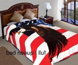 Patriotic USA Flag Blanket ,The Stars and Stripes,Old Glory,