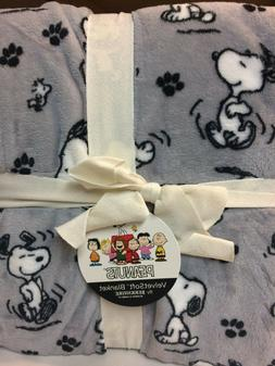 "Peanuts Snoopy and Woodstock FULL QUEEN Fleece Blanket 90"" x"