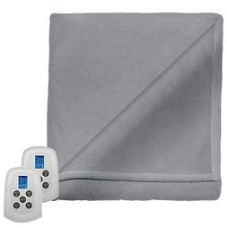 Perfect Fit Serta Fleece Electric Heated Warming Blanket Twi