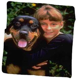 "Personalized Photo Throw Fleece Blanket 50"" x 60"" Made From"