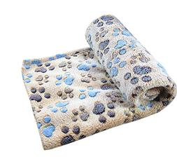 Freerun Pet Dog Cat Soft Warm Bed Blanket Mat Paw Print Cust