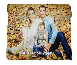 """Photo Personalized Plush Fleece Blanket 60"""" x 50"""" made from"""