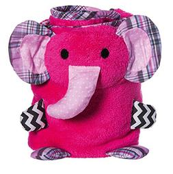Pink Elephant Rolled Blanket