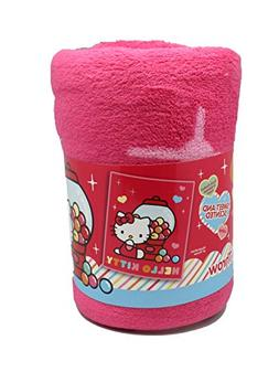 Pink Hello Kitty Gumballs Scented Plush Throw Blanket