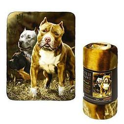 Pitbulls Fleece Throw Signature Collection by JP Imports