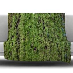 Plush Polyester Moss Design Fleece Throw Blanket Machine Was