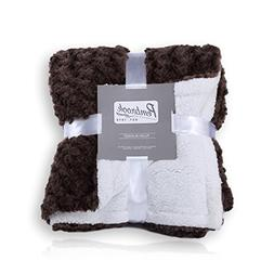 Pembrook Plush Throw Blanket – Brown – Super Soft and Wa