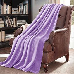 "JML Plush Throw Blanket 50"" x 60"", Plush Soft Fleece Blanket"