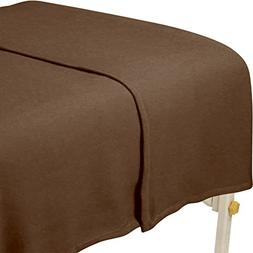 ForPro Polar Fleece Blanket, Chocolate, 63 Inches X 90 Inche
