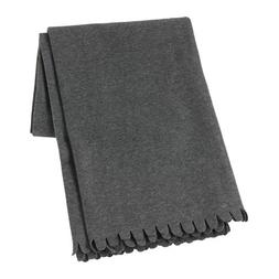 "Ikea Polarvide Gray Fleece Throw 51"" X 67"""