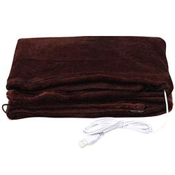 Buyeverything Portable Small Size USB Heated Blanket Soft Mi