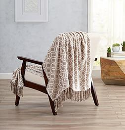 Printed Flannel Fleece Super Soft Blanket with Printed Patte